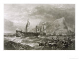"After the Battle the ""Victory"" is Towed into the Harbour of Gibraltar Giclee Print by Clarkson Stanfield"