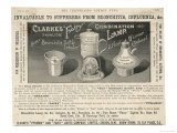 "Advertisement for Clarke's ""Fairy"" Aid to the Treatment of Influenza and Bronchitis Giclee Print"