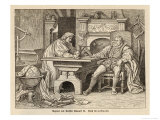 Johannes Kepler German Astronomer with Rudolf II Giclee Print by Trentwald