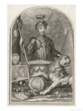 "Edward Prince of Wales Known as ""The Black Prince"" Eldest Son of Edward III Giclee Print by George Vertue"