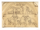 Medieval Representation of the Announcement of the Birth of Jesus to the Shepherds and the Magi Giclee Print