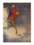 Peter Pan Dances with His Shadow Lámina giclée por Alice B. Woodward