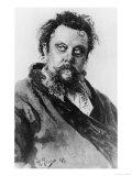 Modest Petrovich Mussorgsky, Russian Composer, Giclee Print