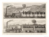 Liverpool-Manchester Railway Early Passenger Trains on the Line Giclee Print by H. Thiriat
