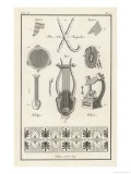 Ancient Greek Instruments Giclee Print by Willemin 