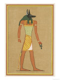 Anubis God of the Dead with the Head of a Jackel Giclee Print