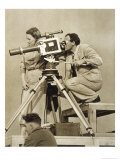 Olympische Spiele 1936 Leni Riefenstahl and One of Her Team Recording the Games Giclee Print by Paul Wolff
