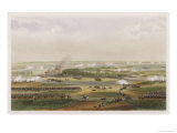 The Hundred Days Battle of Waterloo the Action at 11 Am Giclee Print by T. Yung