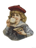 Cut-Out Sailor Boy Drinks Cadbury's Cocoa Giclee Print