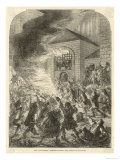 "The Gordon Riots the ""No Popery"" Rioters Set Fire to Newgate Prison Giclee Print"