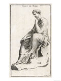 Seated Woman of Classical Rome, Note the Buttoned Sleeve and the Open-Toe Sandals Giclee Print