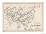 The Mongol Empire at Its Greatest Extent Giclee Print by  Thierry