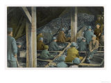 Boys Picking Slate out of Mined Coal in an American Mine Giclee Print