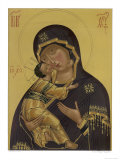 Medieval Depiction of Mary and Baby Jesus Lámina giclée