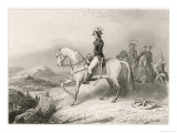 Napoleon I on His Horse During the Crossing of the St. Bernard Pass from France to Italy in 1796 Giclée-Druck von Villerey