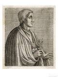 Quintus Horatius Flaccus Roman Writer Giclee Print by Andre Thevet