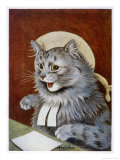 Cat Dressed as a Judge Giclee Print by Louis Wain