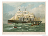 The Steamship of Brunel and Scott Russell in Full Steam Giclee Print by Edwin Weedon