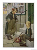 Oliver Twist's First Meeting with the Artful Dodger Giclee Print by Jessie Willcox-Smith