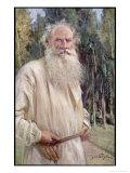 Leo Tolstoy Russian Novelist in Old Age Giclée-Druck von Jan Styka