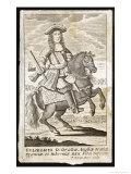 William III King of England on a Very Small Horse Giclée-Druck von F.h. Van Hove