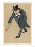 Winston Churchill British Statsman and Author Giclee Print by Bert Thomas