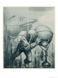 "Diver from a ""Simon Lake"" Submarine Placing a Mine in Channels Used by Enemy Ship 2 of 2 Giclee Print by Neal Truslow"
