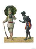 Robinson Crusoe and Friday Giclee Print