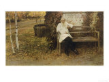 Leo Tolstoy the Russian Novelist About a Year Before His Death Giclée-Druck
