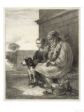 Blind Fiddler and His Dog Giclee Print