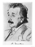 Albert Einstein German Born Physicist in 1920 Giclee Print