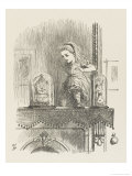 Alice Looking Through the Looking Glass 2 of 2: The Other Side Stampa giclée premium di Tenniel, John