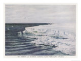 The Great Ice Barrier Looking East from Cape Crozier in Antarctica Giclee Print by Edward A. Wilson