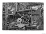 Steam Engine Used in the Erecting Shop Penn's Marine Factory Greenwich England Giclee Print