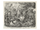 The Huns Under Attila are Defeated by the Visigoths and Romans Commanded by Aetius at Chalons Giclee PrintHermann Vogel