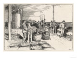 "The ""Silk Maceration"" Room at the Silk Factory at Besancon France Giclee Print"