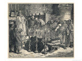 William I is About to be Buried at Caen Normandie When Ascelin Fitzarthur Claims the Territory Giclee Print by Edouard Zier