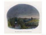 The Ignis Fatuus or Marsh Light Lures the Unwary Traveller into Dangerous Marshwaters Giclee Print by J.w. Whimper
