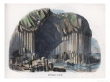 Fingal's Cave Staffa Hebrides Scotland Giclee Print by J.w. Whimper