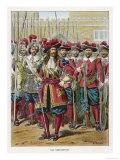 English Soldiers of the Restoration Period after the Return of Charles II Giclee Print