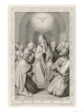 The Holy Spirit Descends on the Apostles and Their Associates with the Gift of Tongues Giclee Print