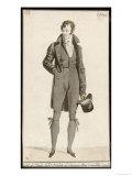 Black Woollen Suit Giclee Print