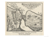 Map of the Siege of Copenhagen Denmark by Carl X Gustav of Sweden Giclee Print