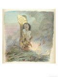 Joan of Arc Burned at the Stake in Rouen on 30 May 1431 Reproduction procédé giclée par A. Willette