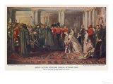 Queen Victoria Reviews Crimean Veterans Giclee Print