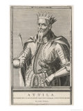 Attila King of the Huns Giclee Print by Julio Strozza