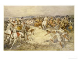 Battle of Issus the Macedonians Defeat Darius and the Persians on the Banks of the Issus River Giclee Print by Dudley Tennant