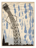 The Radio's Lies are Enough to Make the Heavens Weep! Giclée-Druck