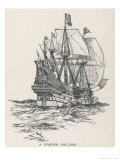 Spanish Galleon of the Type That Sailed with the Armada in 1588 Premium Giclee Print by W. Edward Wigfull