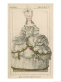 Marie Antoinette in Extravagant Dress and Holding a Rose Giclee Print